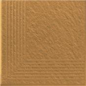 Klinkier SIMPLE SAND piaskowy stopień narożny struktura 3-D mat 30x30 gat. I