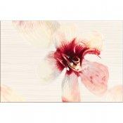 Płytka ścienna LORENA kremowa inserto maya A kwiatek błyszcząca 30x45 gat. I