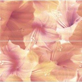 Płytka ścienna FLOWER POWER pomarańczowa inserto kwiaty 59,4x60 gat. I
