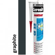 Silikon sanitarny CERESIT CS 25 grafitowy 280 ml