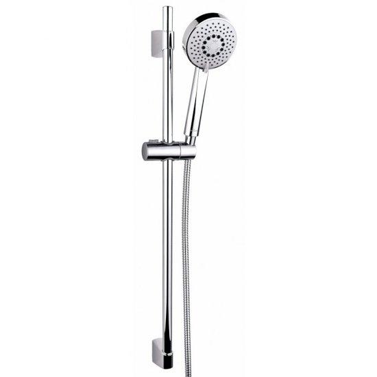 Zestaw prysznicowy NENO przesuwny fi 10 cm, 5 funkcji, drążek 80cm