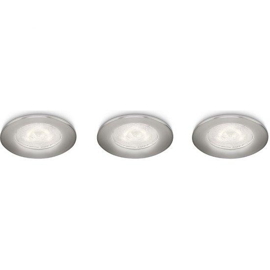 Oprawa punktowa sufitowa 3x3W SCEPTRUM, LED matowy chrom 59100/17/16 Philips