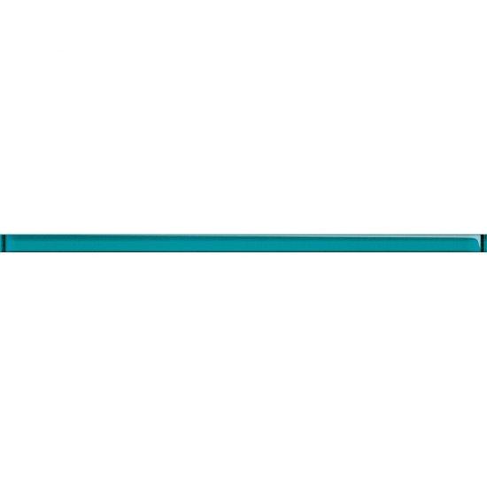 Płytka ścienna UNIVERSAL GLASS DECORATIONS niebieska listwa 1,5x20 gat. I
