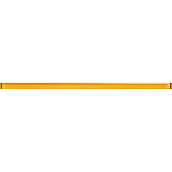 Płytka ścienna UNIVERSAL GLASS DECORATIONS żółta listwa 1,5x20 gat. I