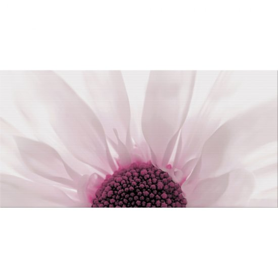 Płytka ścienna SUMMER COLOURS fioletowa inserto kwiat błyszcząca 29,7x60 gat. I