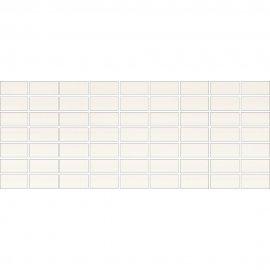 Płytka ścienna ORGANZA biała mozaika mat 20x50 gat. I