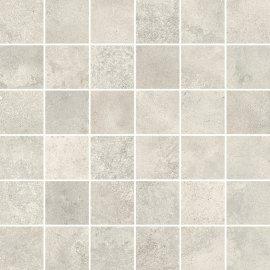 Gres szkliwiony QUENOS biały mozaika mat 29,8x29,8 gat. I