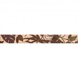 Płytka ścienna CASANDRA kremowa listwa liście błyszcząca 4,8x45 gat. I