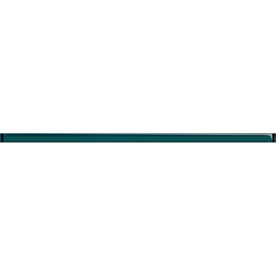 Płytka ścienna UNIVERSAL GLASS DECORATIONS turkusowa listwa błyszcząca 2x59,3 gat. I