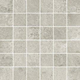 Gres szkliwiony QUENOS jasnoszary mozaika mat 29,8x29,8 gat. I