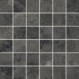 Gres szkliwiony QUENOS grafitowy mozaika mat 29,8x29,8 gat. I