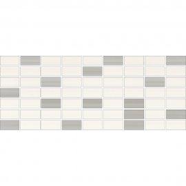 Płytka ścienna ORGANZA biała mozaika mix B mat 20x50 gat. I