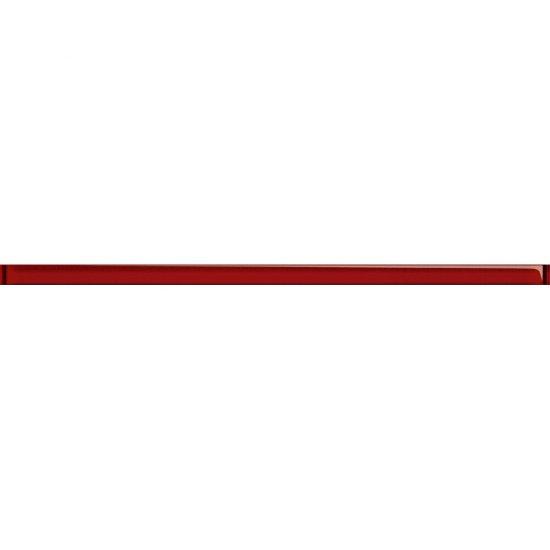 Płytka ścienna UNIVERSAL GLASS DECORATIONS czerwona listwa 1,5x20 gat. I