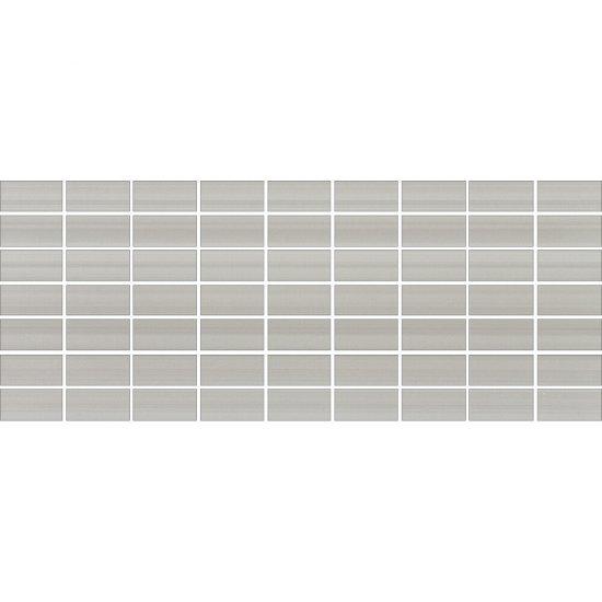 Płytka ścienna ORGANZA szara mozaika mat 20x50 gat. I