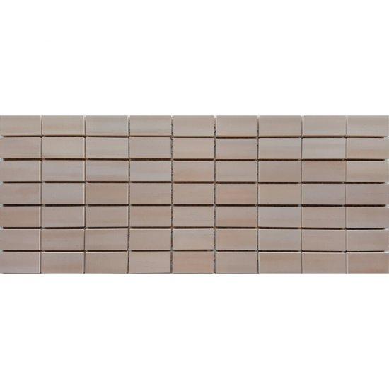 Płytka ścienna CAPRI brązowa mozaika błyszcząca 20x50 gat. I