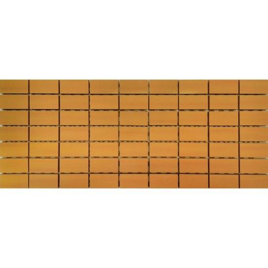Płytka ścienna CAPRI pomarańczowa mozaika błyszcząca 20x50 gat. I