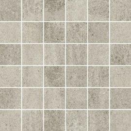 Gres szkliwiony GRAVA jasnoszary mozaika mat 29,8x29,8 gat. I