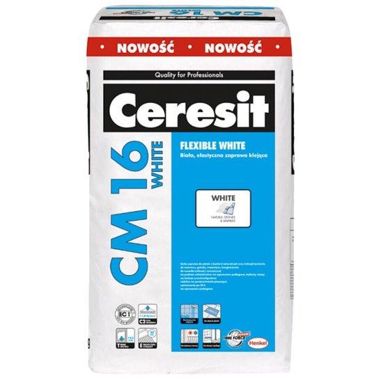 Zaprawa klejowa elastyczna do płytek CERESIT CM 16 White 22,5 kg
