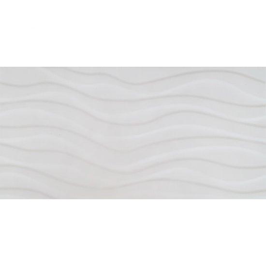 Płytka ścienna PEROUSO biała struktura fale 29,7x60 gat. II