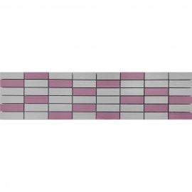 Płytka ścienna TENSA biało-różowa mozaika błyszcząca 14,7x60 gat. I