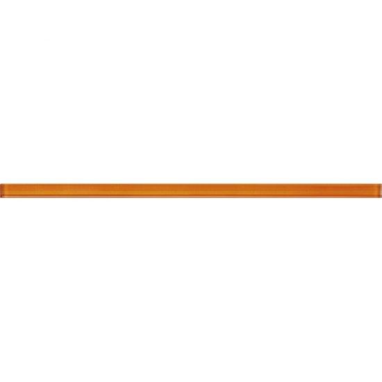 Płytka ścienna DIANTUS pomarańczowya listwa szklana błyszcząca 1,5x40 gat. I