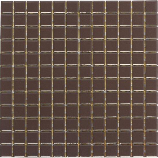 Mozaika PALETTE brązowa błyszcząca 30x30 gat. I