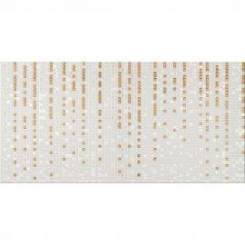 Płytka ścienna ART MOSAIC szaro-złota inserto geo błyszcząca 29,7x60 gat. I