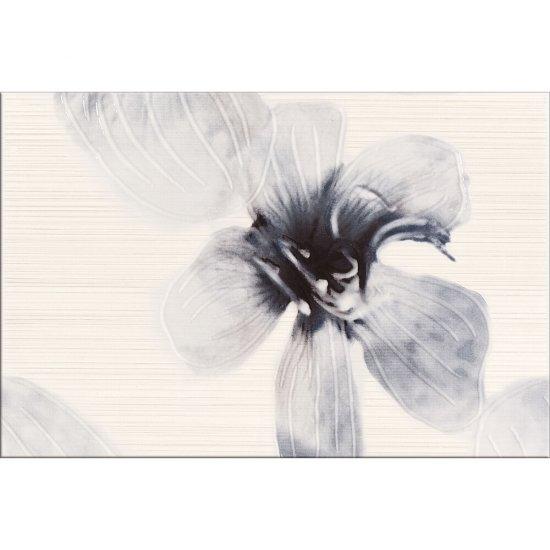 Płytka ścienna MAYA grafitowa inserto kwiaty A błyszcząca 30x45 gat. I