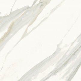 Gres szkliwiony CALACATTA GOLD biały mat 59,8x59,8 gat. I