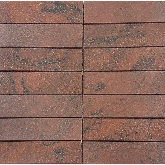 Gres zdobiony SATURN czerwony mozaika mat 29,5x29,5 gat. I