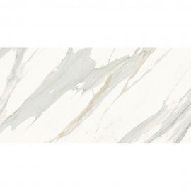 Gres szkliwiony CALACATTA GOLD biały mat 59,8x119,8 gat. I