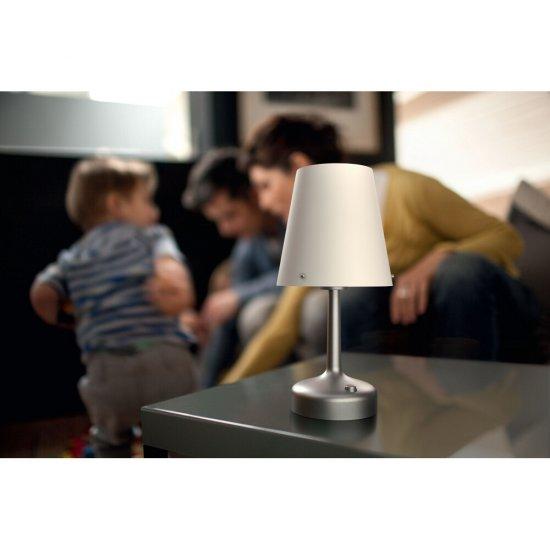 Lampa stołowa 1x0,6W LED, 71796/48/P0 biała Philips