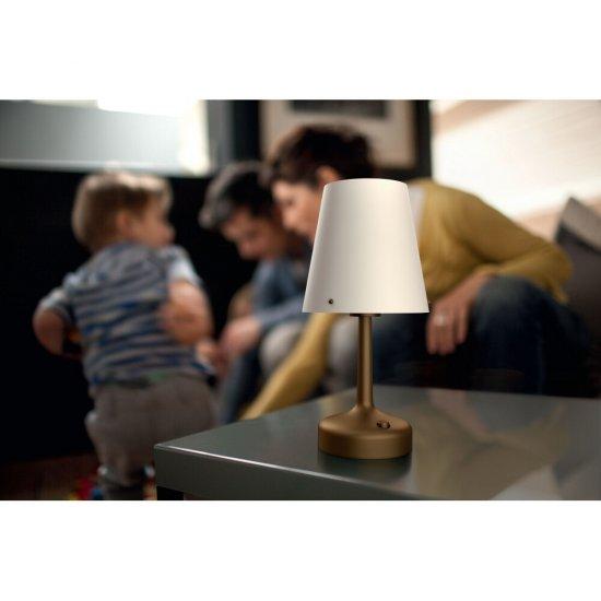 Lampa stołowa 1x0,6W LED, 71796/06/P0 brąz Philips