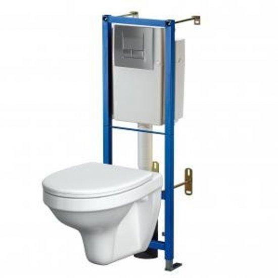 Stelaż do WC TARGET z miską i deską duroplastową DELFI oraz przyciskiem TARGET S S701-024 PERLA