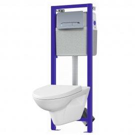 Stelaż do WC DEVIDED z miską i deską duroplastową PARVA oraz przyciskiem VECTOR K97-189