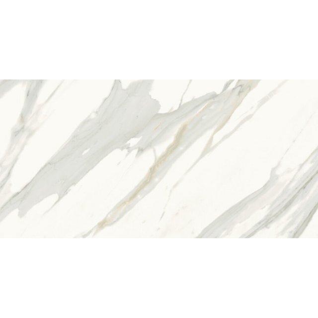 Gres szkliwiony CALACATTA GOLD biały poler 59,8x119,8 gat. I