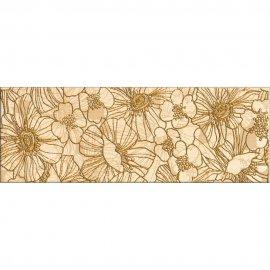 Płytka ścienna FLORES kremowa listwa kwiaty A błyszcząca 12,4x35 gat. I