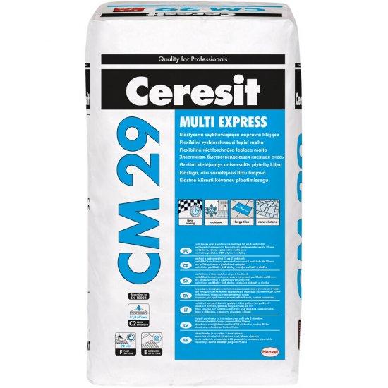 """Zaprawa klejąca elastyczna szybkowiążąca """"Multi Express"""" CERESIT CM 29 25kg"""