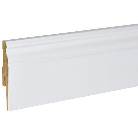 Listwa przypodłogowa Modena 80 Retro biała 2,4 m KORNER