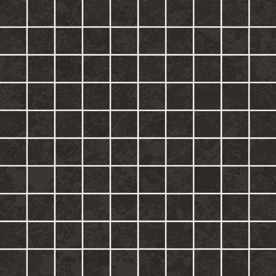 Gres szkliwiony EQUINOX czarny mozaika mat 29x29 gat. I