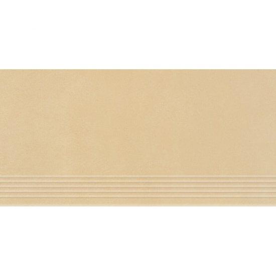 Gres zdobiony URBAN MIX beżowy stopnica mat 29,55x59,4 gat. I