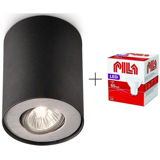 Lampa sufitowa 1xGU10 PILLAR 56330/30/PN Philips + żarówka LED 6,5W biała ciepła Pila