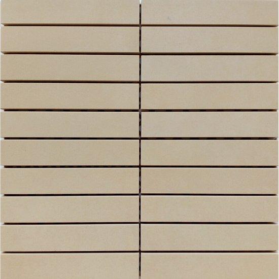 Gres zdobiony URBAN MIX beżowy mozaika prostokąty mat 29,55x29,55 gat. I