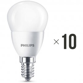 Komplet 10 żarówek LED 4 W (25 W) E14 biała ciepła 8718696474945