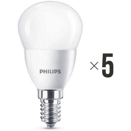 Komplet 5 żarówek LED 4 W (25 W) E14 biała ciepła 8718696474945