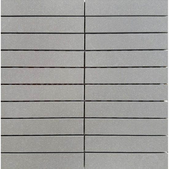 Gres zdobiony MOONDUST jasnoszary mozaika prostokąty mat 29,5x29,5 gat. I
