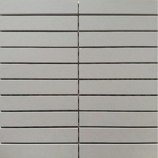Gres zdobiony MOONDUST kremowy mozaika prostokąty mat 29,5x29,5 gat. I