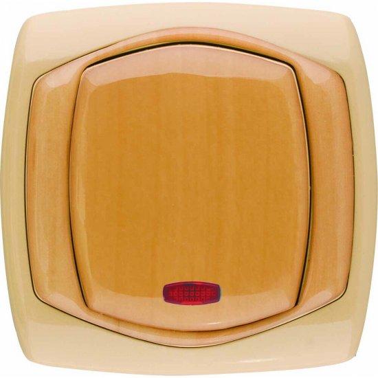 Łącznik COMFORT zwierny dzwonek z podśw. ŁP-6XS.CB/GR ciemnobeżowy, gruszkowy Polmark