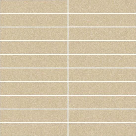 Gres zdobiony MOONDUST beżowy mozaika prostokąty mat 29,5x29,5 gat. I
