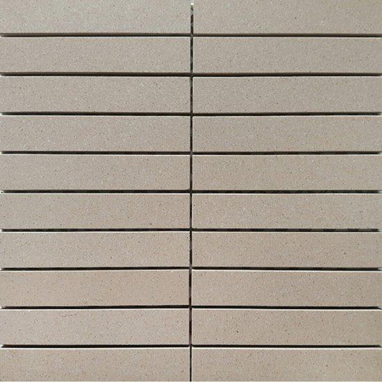 Gres zdobiony MOONDUST mocca mozaika prostokąty mat 29,5x29,5 gat. I